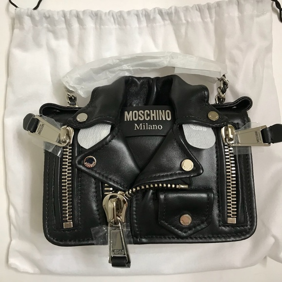 84676b0aaa7fb Moschino Bags | Mini Leather Biker Bag New Authentic | Poshmark